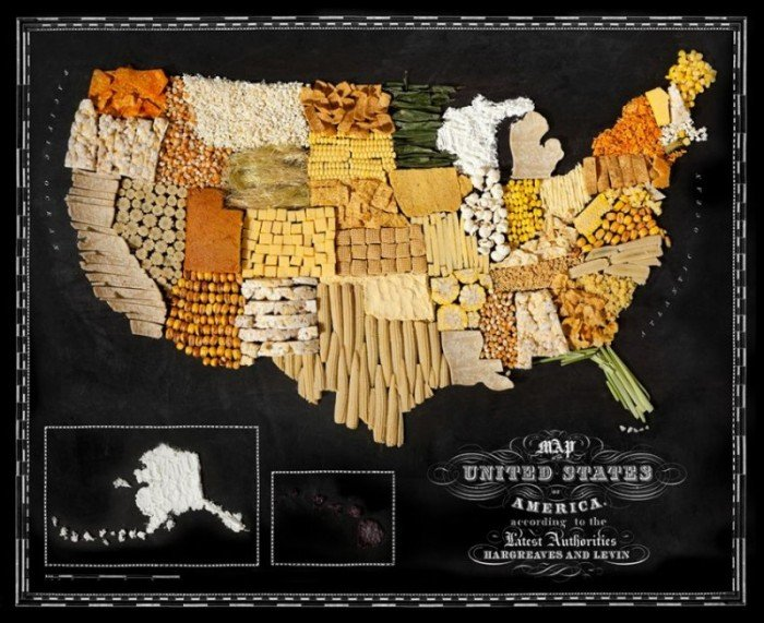 Съедобная карта мира — фуд дизайн, фото 6