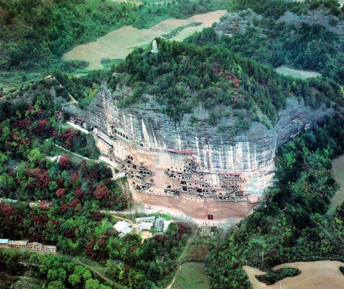 Пещерный монастырь Майцзишань в Китае. «Пшеничная гора», фото 12
