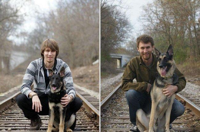 """Животные и их хозяева годы спустя. Фото домашних животных """"до"""" и """"после"""" - 14"""