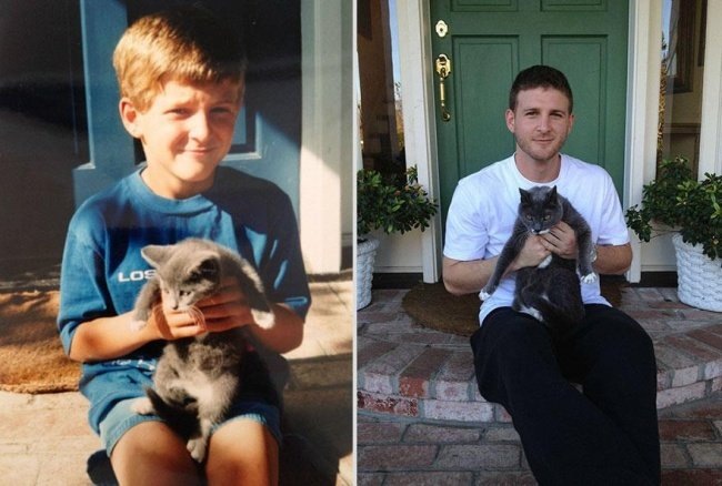 """Животные и их хозяева годы спустя. Фото домашних животных """"до"""" и """"после"""" - 7"""
