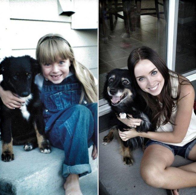 """Животные и их хозяева годы спустя. Фото домашних животных """"до"""" и """"после"""" - 1"""