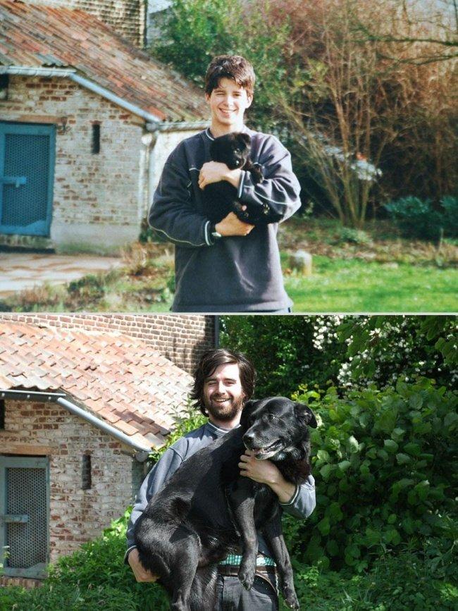"""Тварини та їх господарі роки по тому. Фото домашніх тварин """"тоді"""" та """"зараз"""" - 3"""