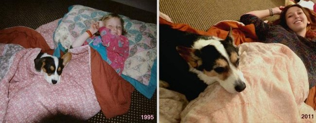 """Животные и их хозяева годы спустя. Фото домашних животных """"до"""" и """"после"""" - 6"""
