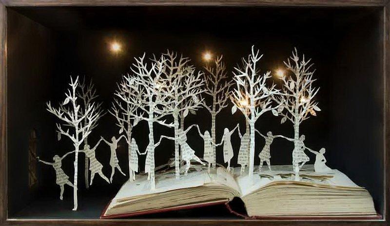 Сью Блеквел, бумажные скульптуры из книг