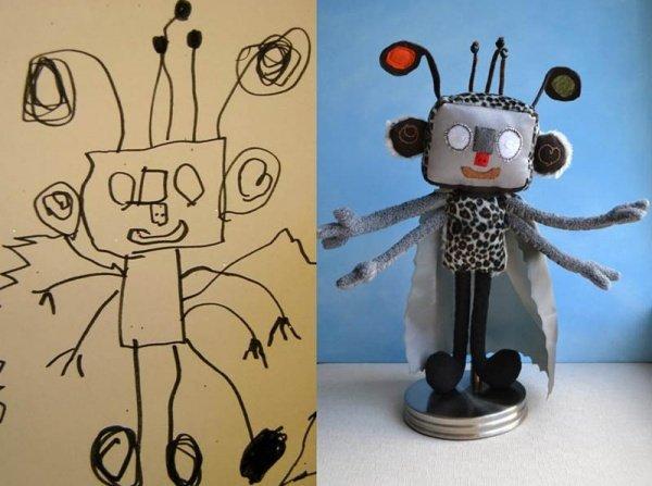 Игрушки по эскизам детских рисунков