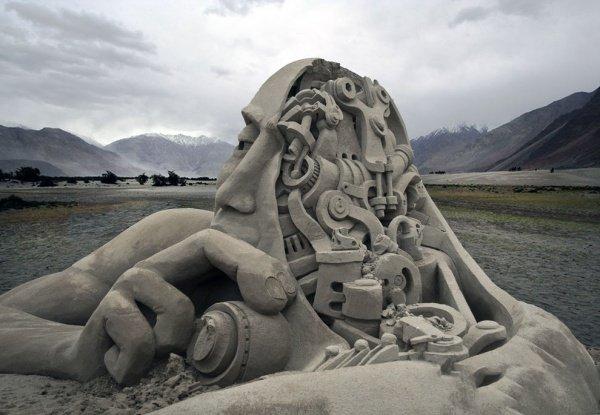 Мировой чемпионат по изготовлению песчаных скульптур в Вашингтоне.