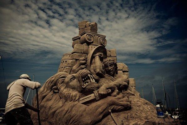 Фестиваль песчаных фигур в Дании