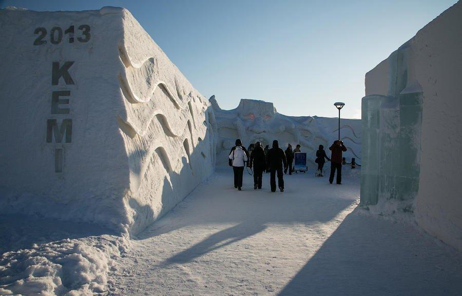 Сніговий змок у Кемі/Снежный дворец в Кеми