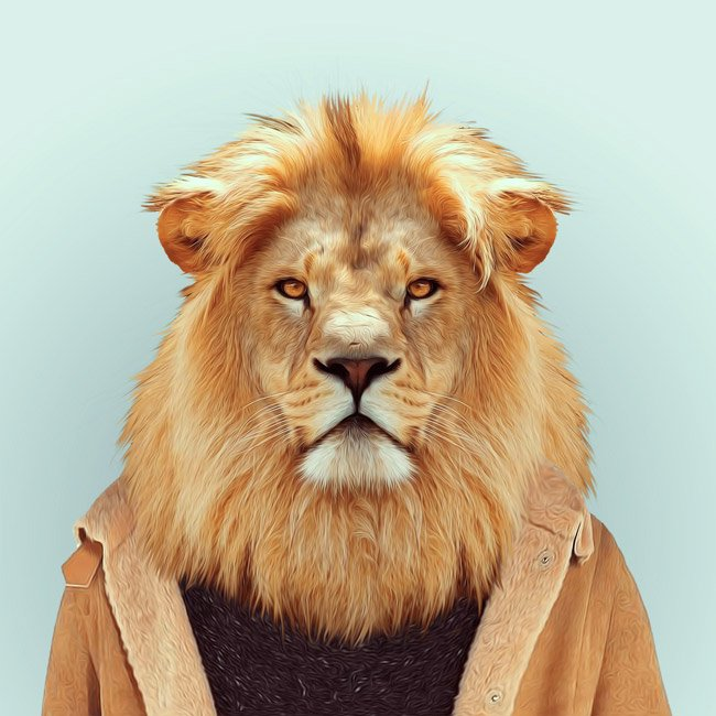 Зоопортрети лев
