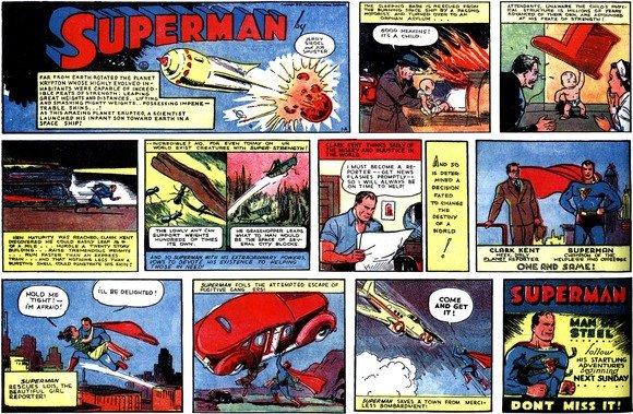 Первые комиксы