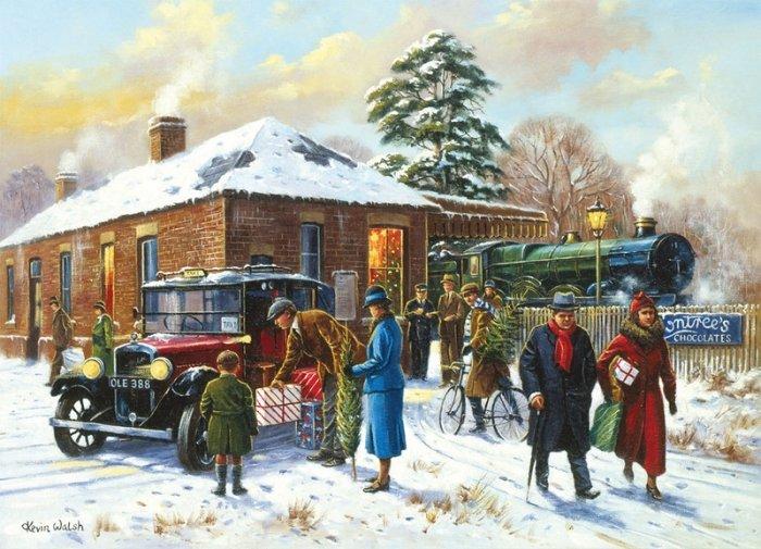Зимние рисунки и зимние пейзажи известных художников, фото 16