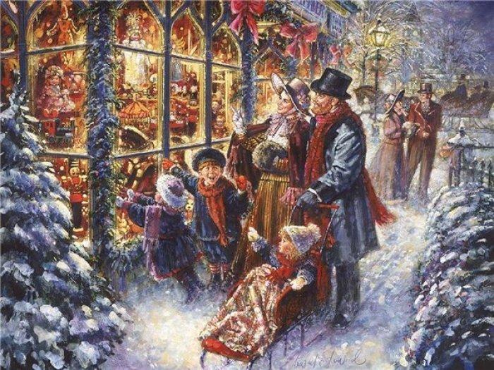 Зимние рисунки и зимние пейзажи известных художников, фото 28