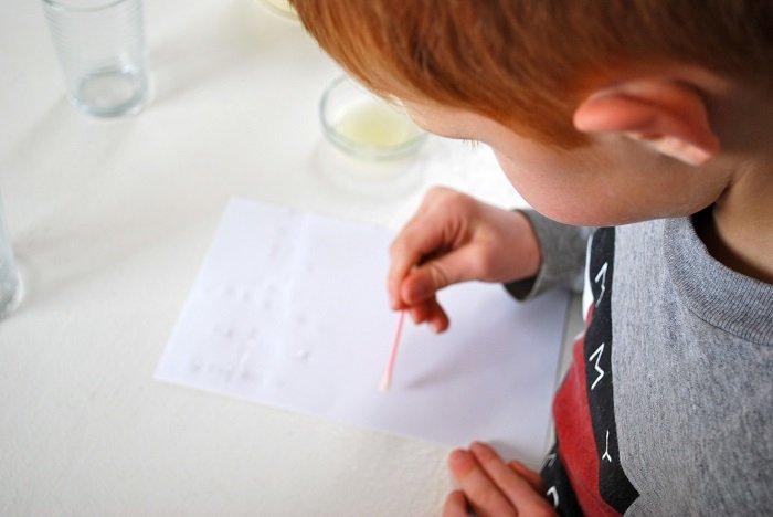 Невидимая надпись на бумаге своими руками